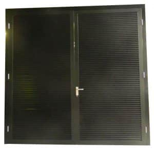 Black Double Louvre Door ()