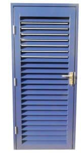 Blue Single Louvre Door ()