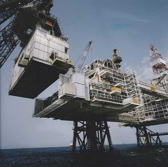 Amerada Hess North Sea Drilling Platform