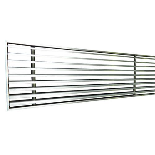 Linear Bar Grille LBG Brushed On Joinery Frame